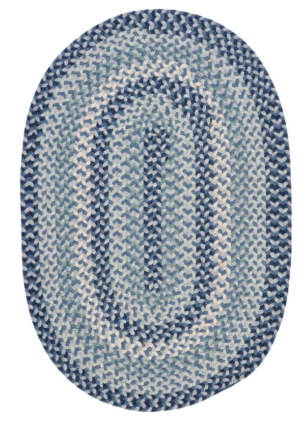 Lettie Capeside Blue Area Rug Rug Size: Oval 5' x 8'