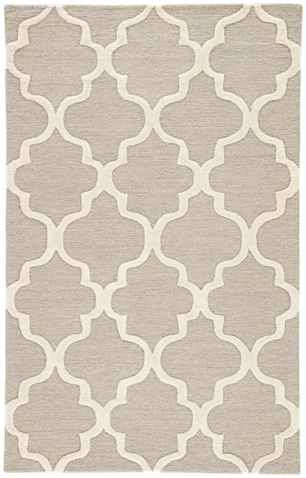 Felix Gray & Ivory Geometric Area Rug Rug Size: Rectangle 2' x 3'