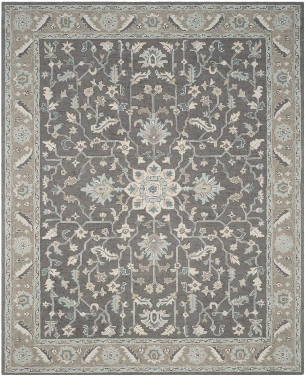 Kilbourne Hand-Tufted Dark Gray/Light Brown Area Rug Rug Size: Rectangle 8' x 10'