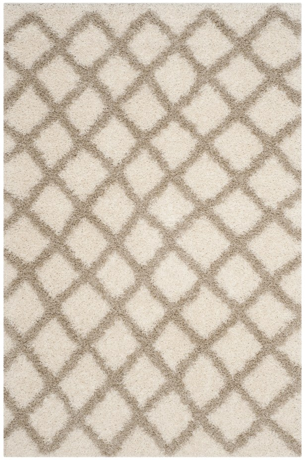 Knoxville Shag Beige/Ivory Area Rug Rug Size: Rectangle 6' x 9'