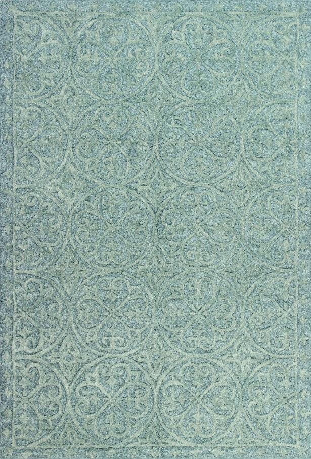 Arnott Hand-Tufted Teal Area Rug Rug Size: Runner 2'6