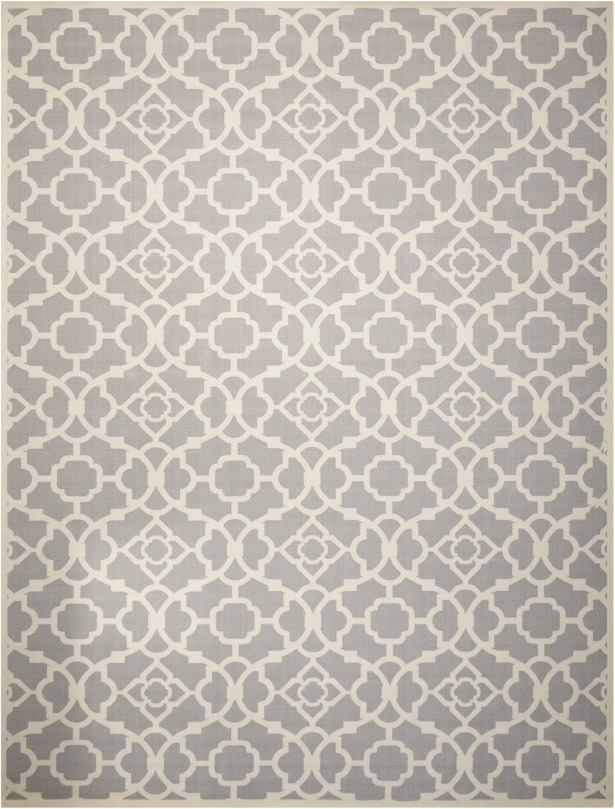 Kenton Gray/White Indoor/Outdoor Area Rug Rug Size: Rectangle 7'9