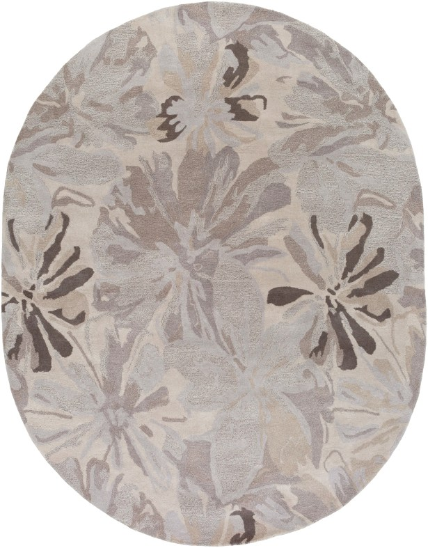 Amice Beige/Gray Area Rug Rug Size: Oval 8' x 10'