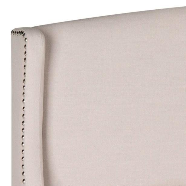 Hattiesburg Upholstered Wingback Headboard Size: Twin, Upholstery: Velvet White