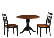 Dining Table Sets Chesterton Transitional 3 Piece Solid Wood Dining Set