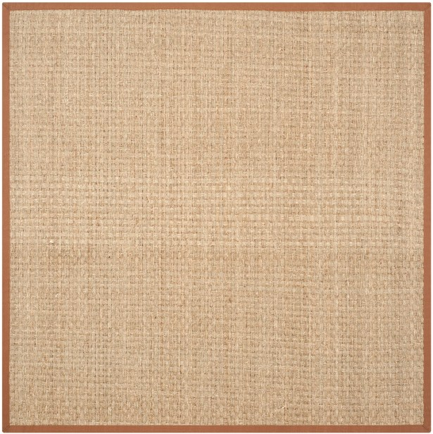 Dufour Hand-Woven Natural/Brown Area Rug Rug Size: Square 8'