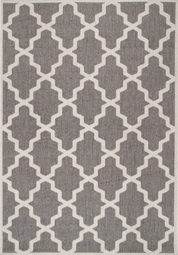 Bolton Gray Trellis Indoor/Outdoor Area Rug Rug Size: Rectangle 9'11