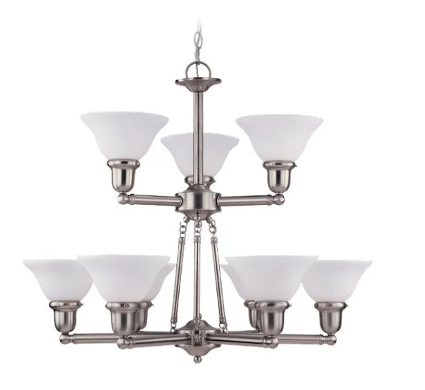 Darmstadt 9-Light Shaded Chandelier