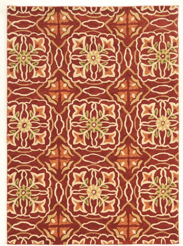 Pen Hand-Tufted Brown/Beige Area Rug Rug Size: Rectangle 8' x 10'