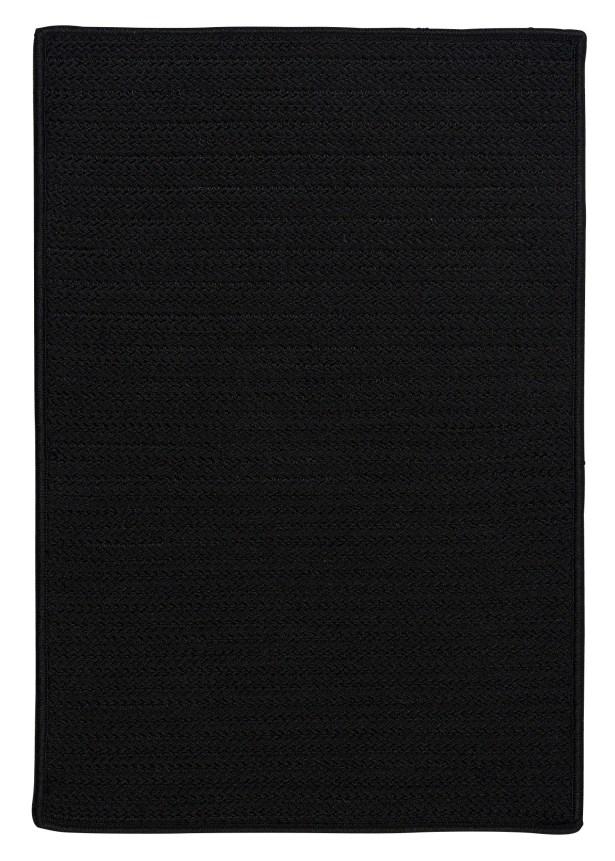Glasgow Black Indoor/Outdoor Area Rug Rug Size: Runner 2' x 12'