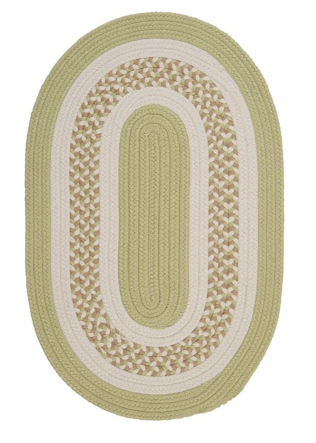 Germain Light Green/Beige Indoor/Outdoor Area Rug Rug Size: Oval 12' x 15'