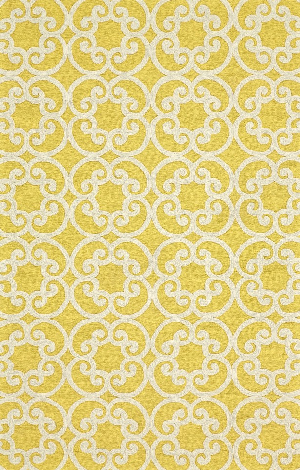 Colley Yellow Indoor/Outdoor Area Rug Rug Size: Rectangle 7'6