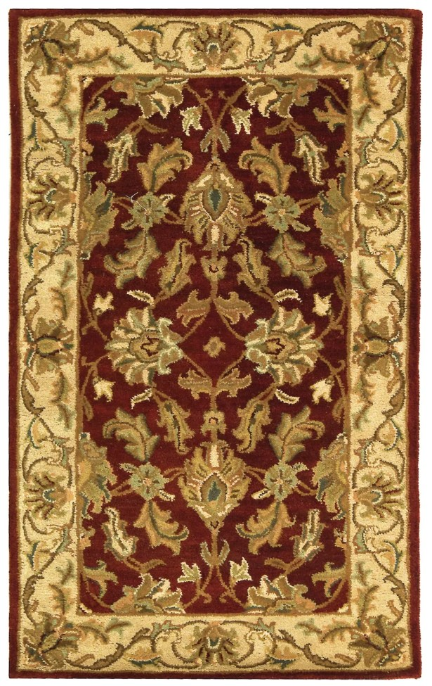 Cranmore Red/Ivory Floral Area Rug Rug Size: Rectangle 9' x 12'