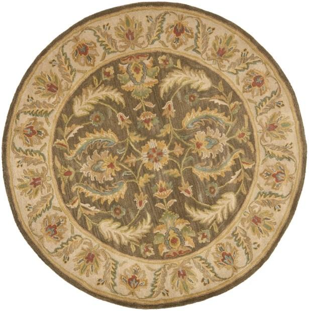 Cranmore Green / Beige Oriental Rug Rug Size: Round 6'