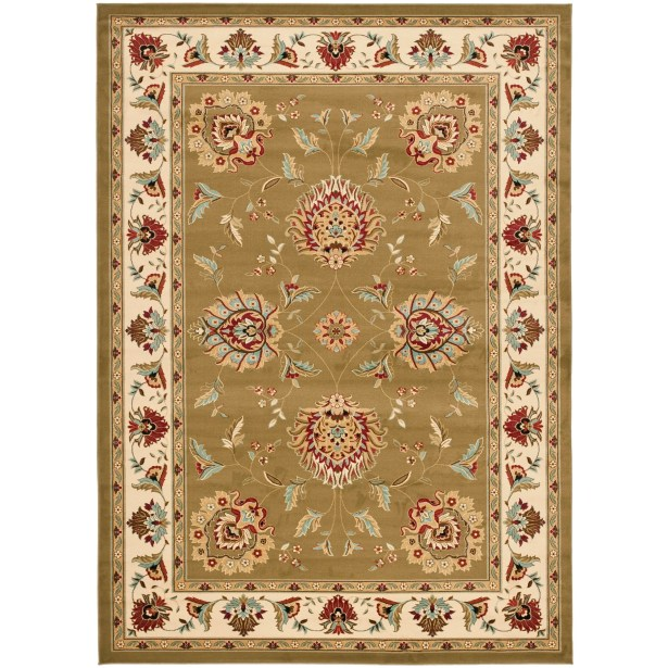 Ottis Green/Ivory Area Rug Rug Size: Rectangle 6'7