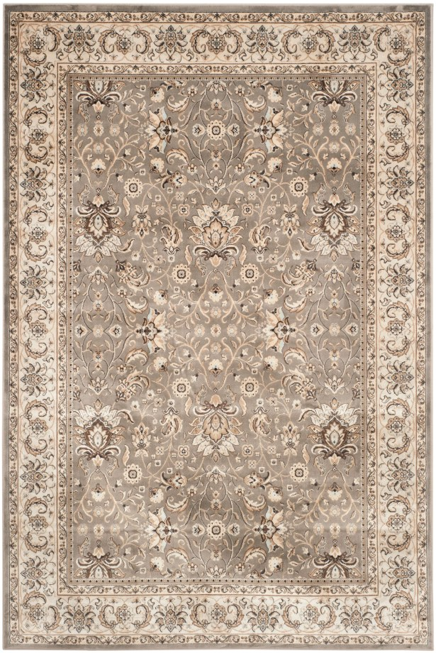 Petronella Ivory/Gray Area Rug Rug Size: Rectangle 8' x 11'2