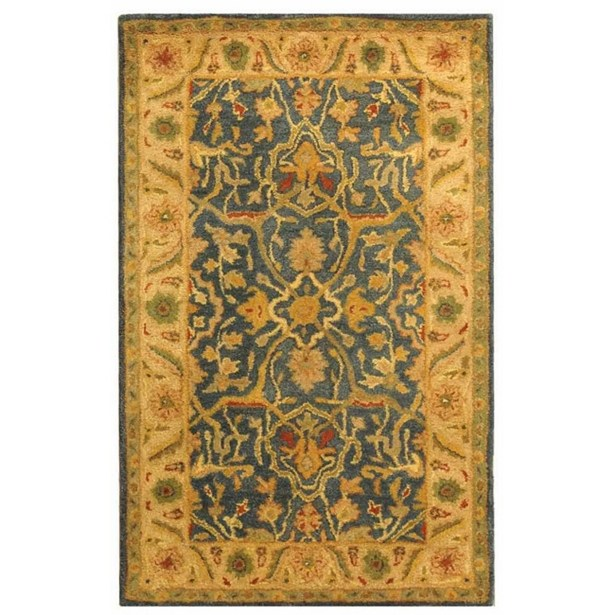 Dunbar Hand-Woven Wool Beige/Green Area Rug Rug Size: Rectangle 8'3