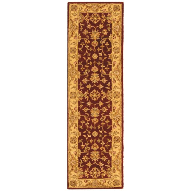 Dunbar Red/Gold Area Rug Rug Size: Runner 2'3