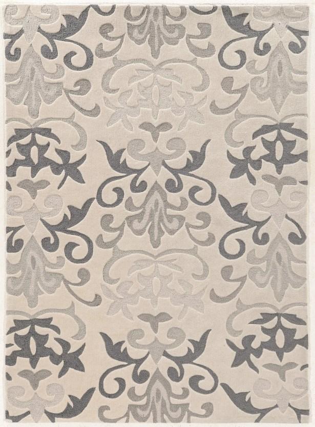 Coggins Hand-Tufted Ivory Area Rug Rug Size: Rectangle 8' x 10'
