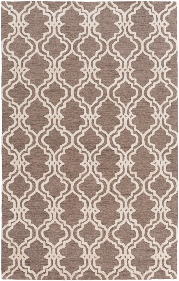 Coghlan Taupe/Ivory Area Rug Rug Size: Rectangle 3' x 5'