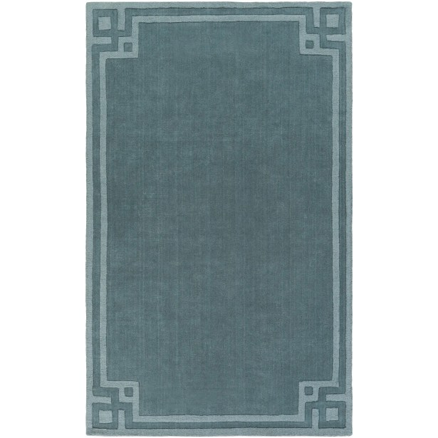 Peever Hand-Loomed Teal Area Rug Rug Size: Rectangle 8' x 11'