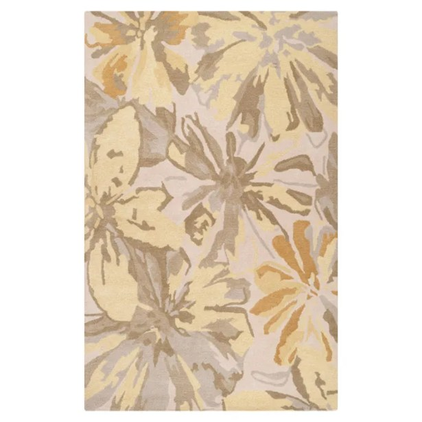 Millwood Beige/Gold Area Rug Rug Size: Rectangle 9' x 12'