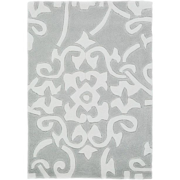 Shauna Hand-Tufted Gray Area Rug Rug Size: Rectangle 3'6