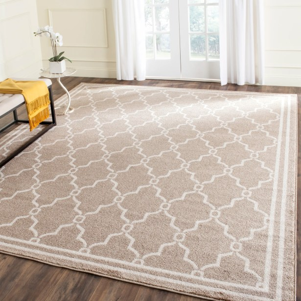 Wason Geometric Wheat/Beige Indoor/Outdoor Area Rug Rug Size: Rectangle 6' x 9'