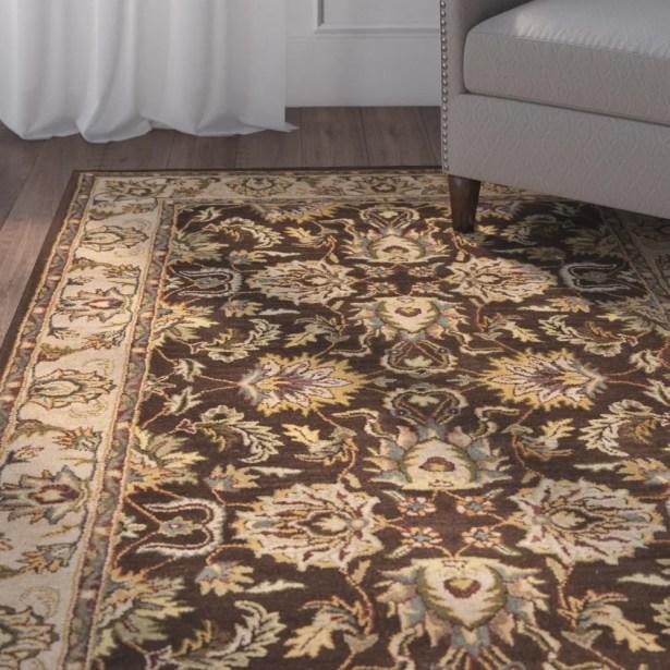 Cranmore Brown/Ivory Area Rug Color: Brown / Ivory, Rug Size: Runner 2'3