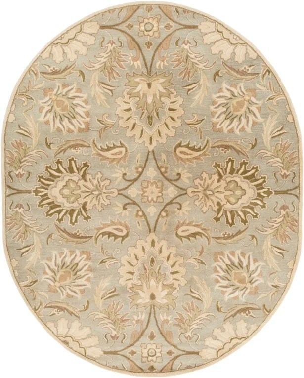 Camden Floral Blue Area Rug Rug Size: Oval 6' x 9'