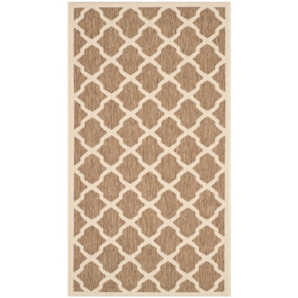 Octavius Indoor/Outdoor Brown Area Rug Rug Size: Rectangle 6'7
