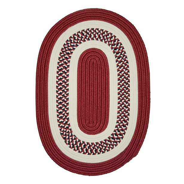 Germain Red Area Rug Rug Size: Round 6'