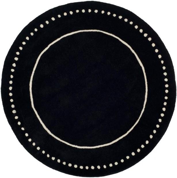 Amundson Hand-Tufted Black/Beige Area Rug Rug Size: Rectangle 6' x 9'