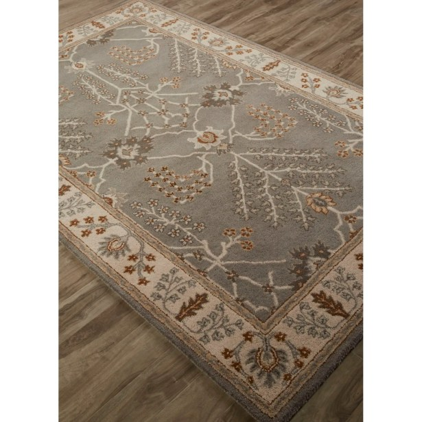 Trinningham Hand-Tufted Gray/Ivory Area Rug Rug Size: Rectangle 5' x 8'
