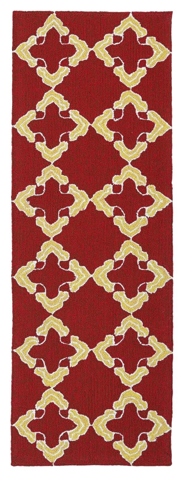 Cowan Red/Yellow Indoor/Outdoor Area Rug Rug Size: Runner 2' x 6'