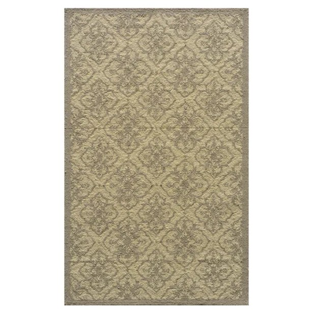 St James Hand-Hooked Taupe Area Rug Rug Size: Rectangle 3'9