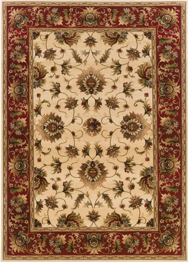 Currahee Beige/Red Area Rug Rug Size: Rectangle 6'7