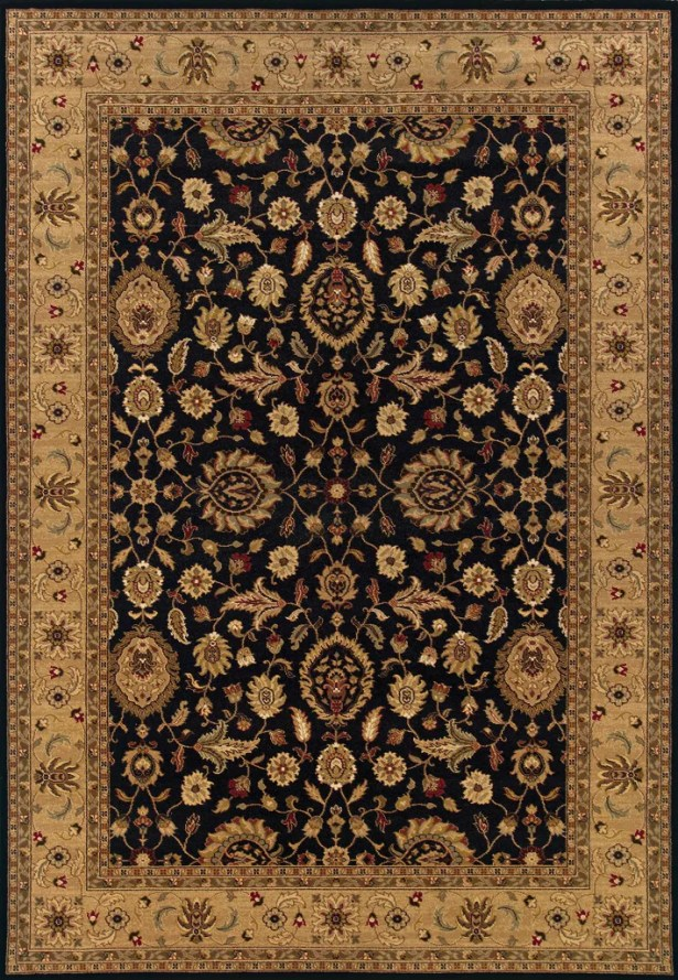 Currahee Black/Beige Area Rug Rug Size: Rectangle 4' x 5'9