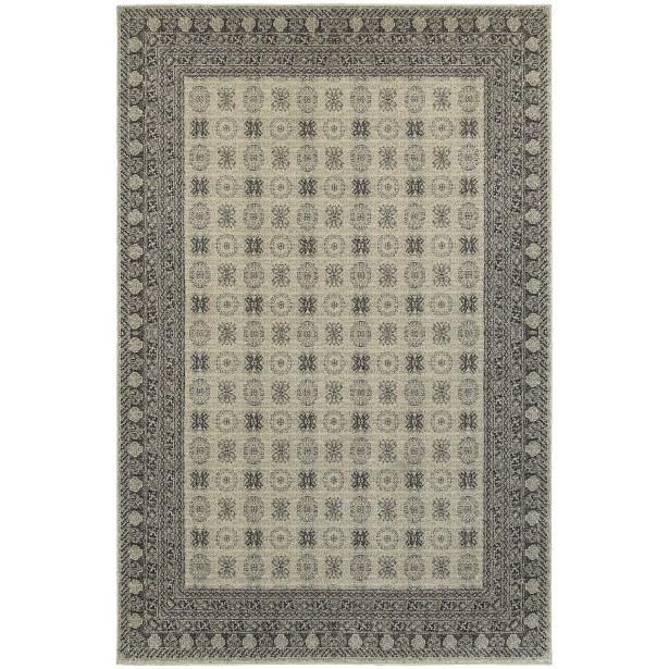 Cynthiana Ivory/Gray Area Rug Rug Size: Rectangle 9'10
