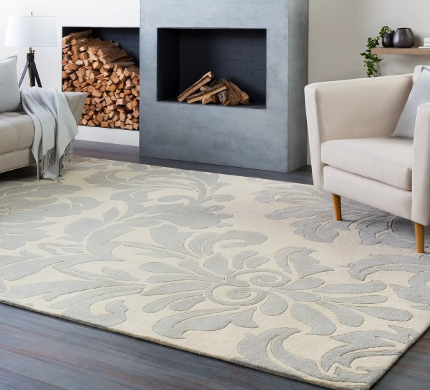 Millwood Hand-Tufted Cream/Gray Area Rug Rug Size: Runner 3' x 12'