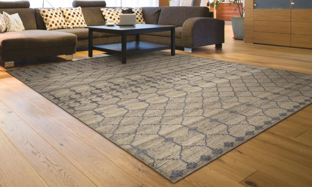 Cargile Hand-Knotted Natural/Gray Area Rug Rug Size: Rectangle 5'6