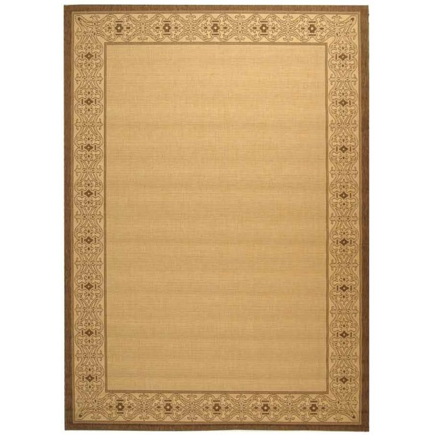 Lansbury Brown/Tan Indoor/Outdoor Area Rug Rug Size: Square 7'10