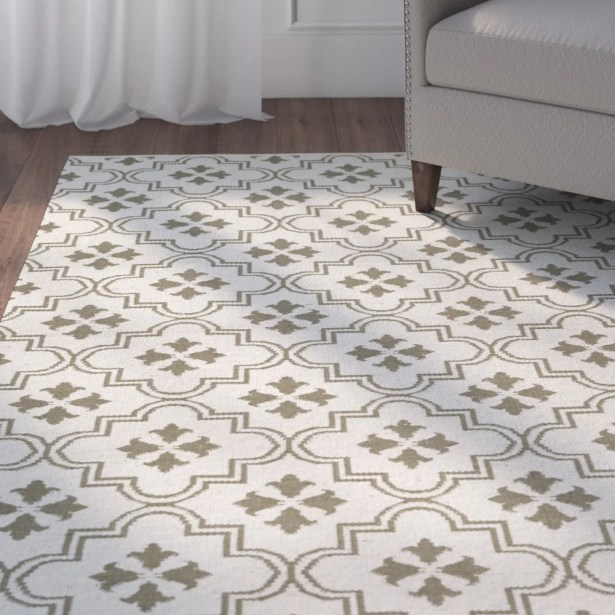Covington Cream/Taupe Indoor/Outdoor Area Rug Rug Size: Rectangle 5' x 7'6