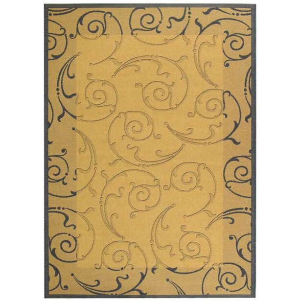 Alberty Natural / Blue Outdoor Area Rug Rug Size: Rectangle 6'7