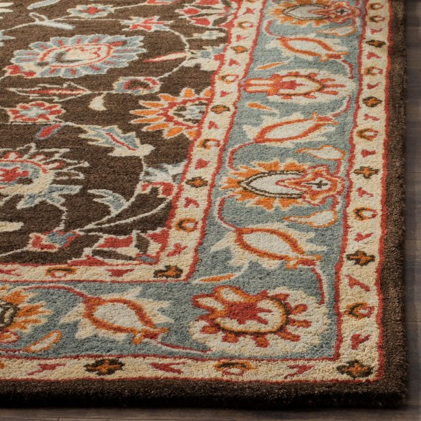Cranmore Hand-Tufted Charcoal/Blue Area Rug Rug Size: Square 6'