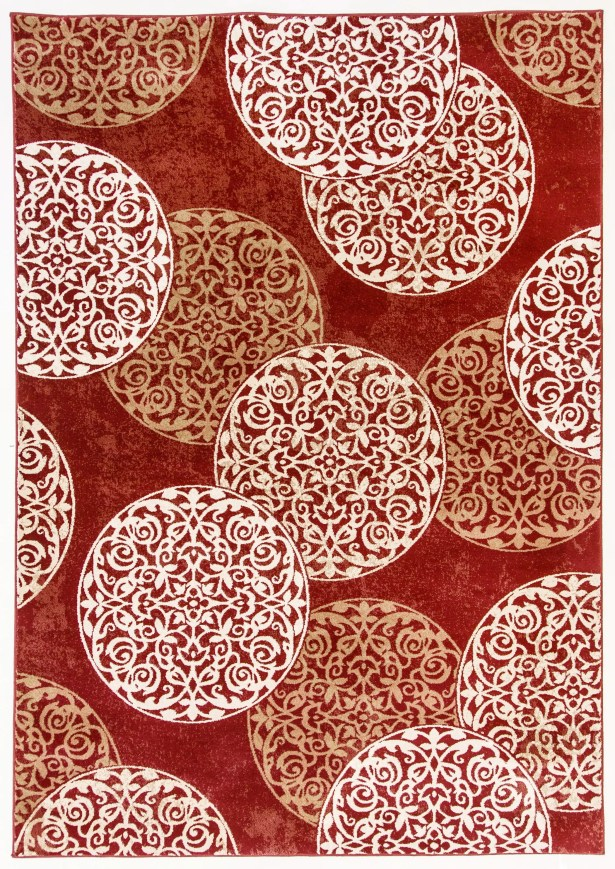 Morocco Red Area Rug Rug Size: Rectangle 9'2