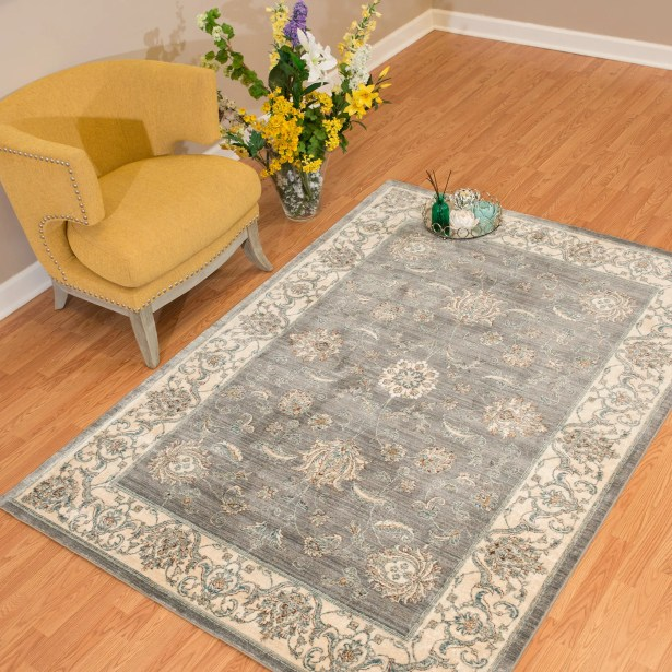 Jansson Oriental Blue/Gray Area Rug Rug Size: Rectangle 12'6