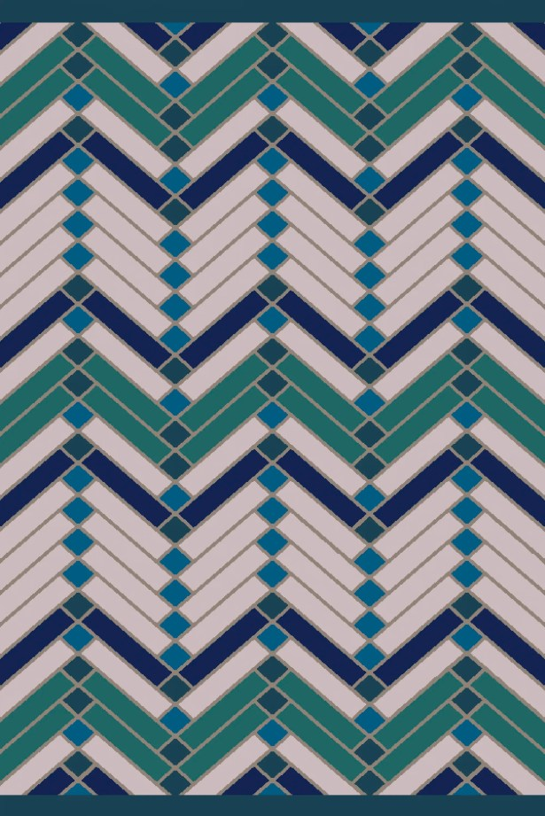 Wellow Green/Blue Area Rug Rug Size: Rectangle 8' x 10'