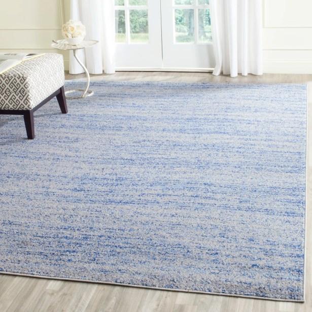 Millbrae Blue/Silver Area Rug Rug Size: Rectangle 6' x 9'