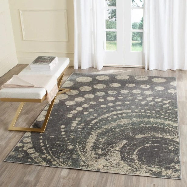 Stave Light Gray Area Rug Rug Size: Rectangle 6'7